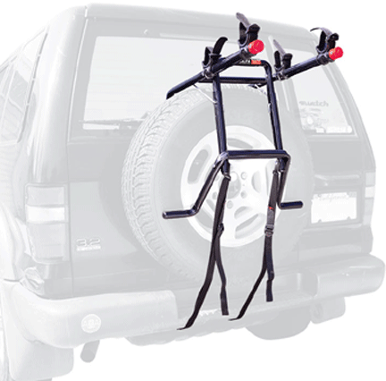 bike racks for campervans Allen Sports Deluxe 2-Bike Spare Tire Mounted Rack Vansage