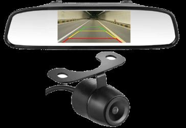 Backup Camera for Campers LeeKooLuu HD Color CCD Rear View Backup Camera and 4.3 mirror Monitor Vansage
