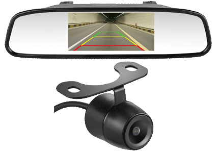 Backup Camera for Campers LeeKooLuu HD Color CCD Rear View Backup Camera and 4.3 mirror Monitor Vansage