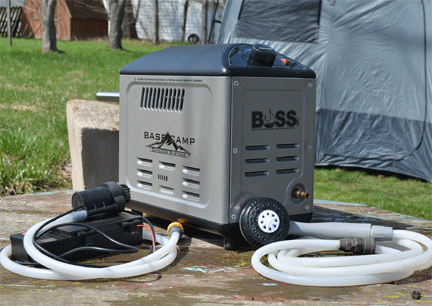 Campervan Showers Mr. Heater BOSS-XB13 Basecamp Battery Operated Shower System Vansage The