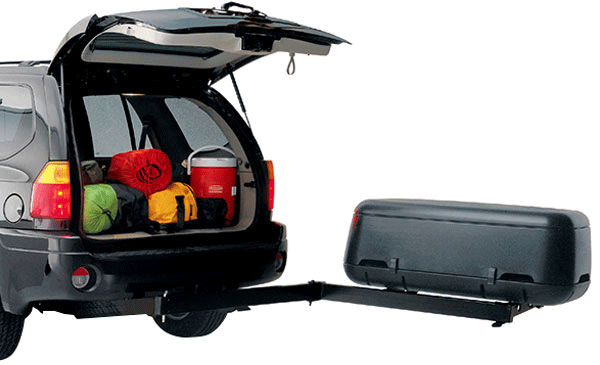 Vansage Thule Transporter trailer hitch cargo boxes with lights