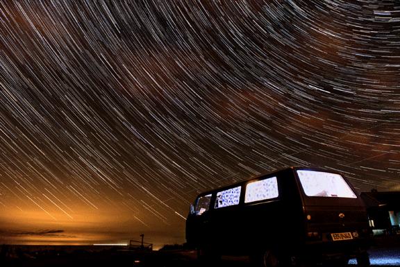 campervan time lapse stars VanSage