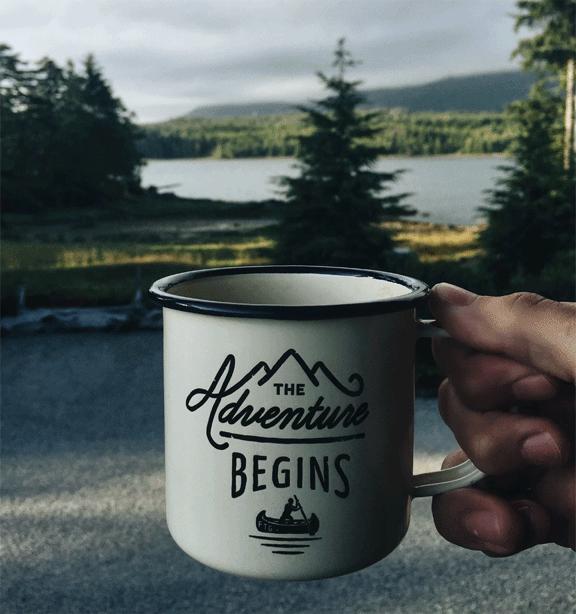 Campervan essentials list adventure begins mug vansage