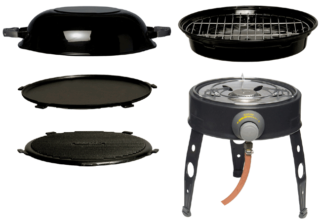 Campsite Cooking Equipment Vansage Cedac BBQ Wok