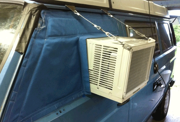window shaker Vansage.com campervan air conditioner