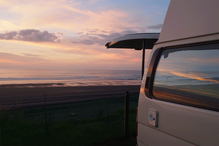 vansage sunset Vanlife safety and security