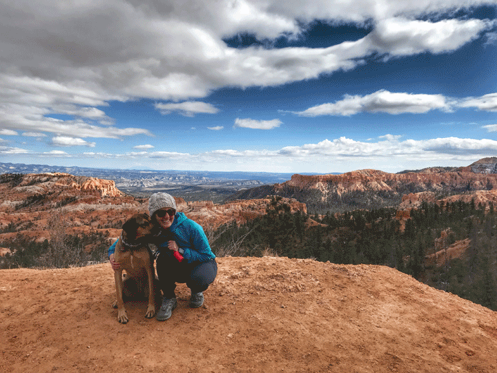 vansage author with her dog National parks where dogs are allowed