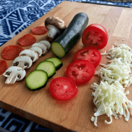 Vansage easy campsite recipe pizza
