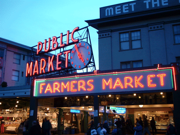 Seattle Campervan Travel Vansage Pike Place Market