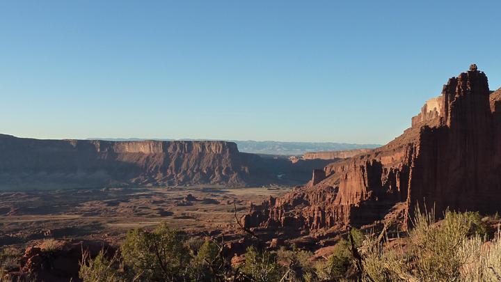 Campervan Travel destination Fisher Tower Moab, UT Vansage
