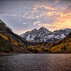 Maroon Bells Camping Vansage Campervan Rental Colorado