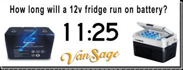 Vansage 12 volt refrigerator How long will a 12v fridge run on battery?