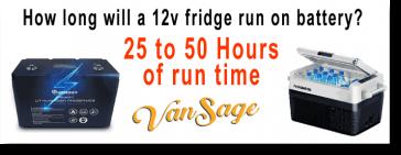 12 volt refrigerator How long will a 12v fridge run on battery? Vansage